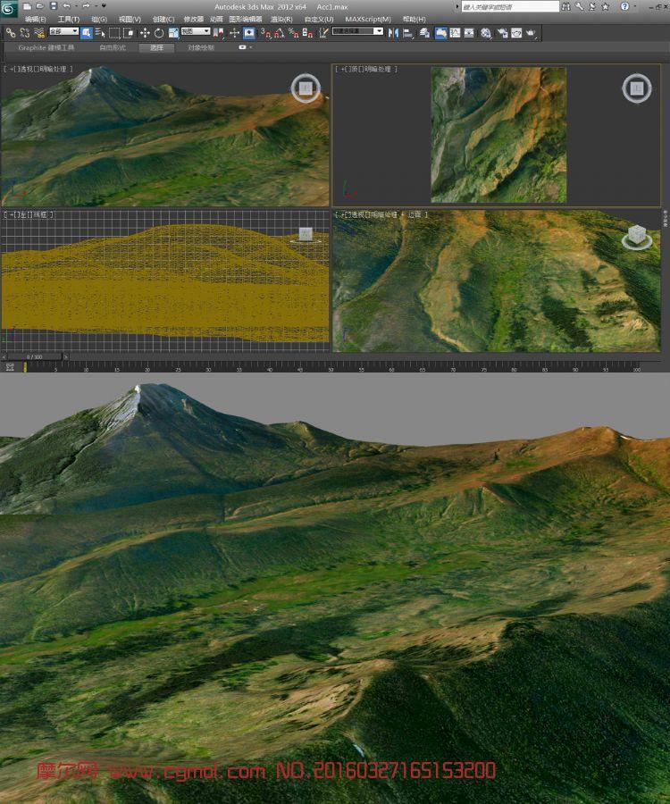 青山真实地形模型
