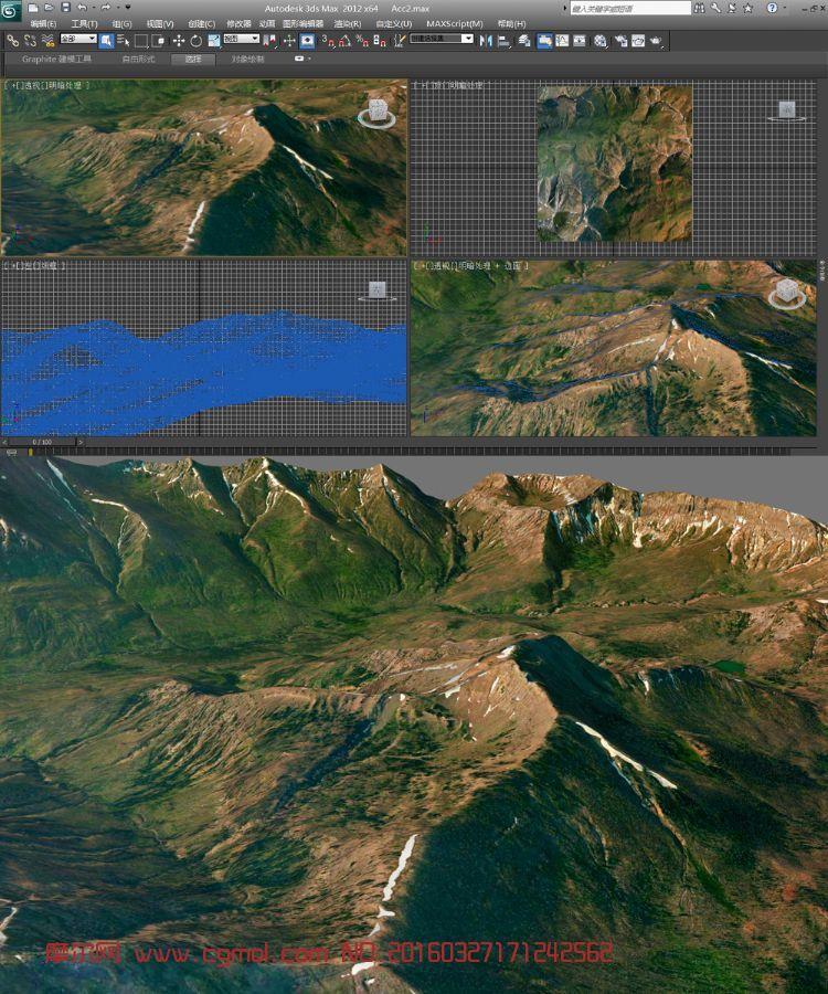 山地真��地形模型