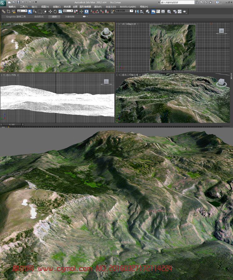 山�r真��地形模型