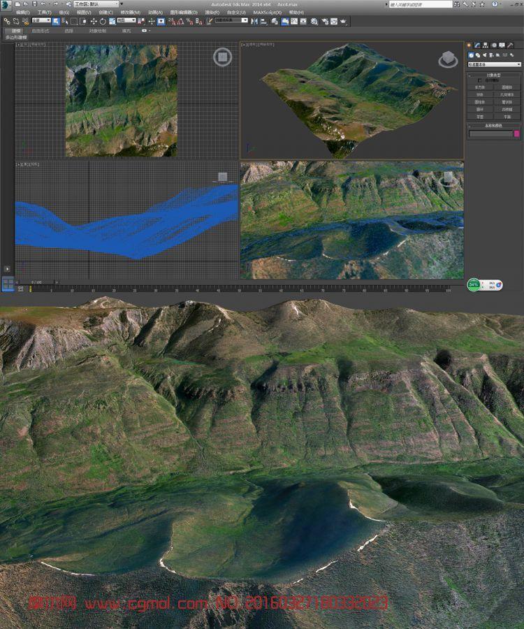 山崖真实地形模型
