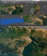 山地真实地形模型