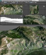 山岩真实地形模型