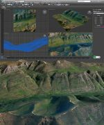 山崖真��地形模型