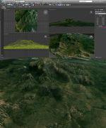 岩石山地形模型