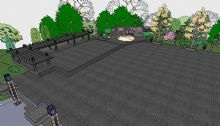 公园广场模型