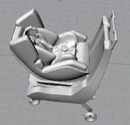 儿童安全座椅和手推车模型