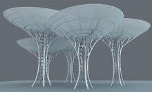 雷达形状圆形雕塑设计,城市雕塑