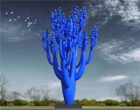 仙人掌果树雕塑设计,城市雕塑