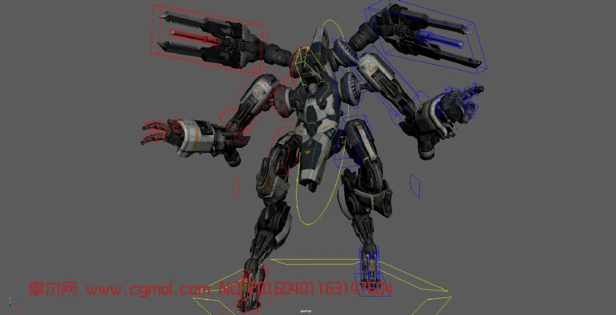 Hekaton机器人带绑定maya模型
