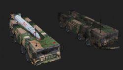 东风11导弹车max模型