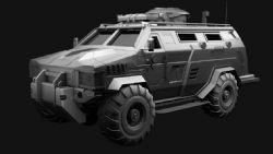 装甲车3D模型