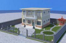 室外别墅规划,凉亭,绿化,鱼塘,假山