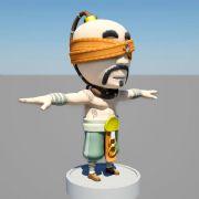 Q版盲僧动画模型,写实布线,有材质贴图
