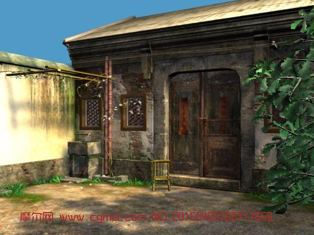 建筑模型 中式建筑  标签:中式住宅房子房屋老房子