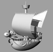 黄金梅丽号-犀牛模型