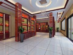 烟酒店内部效果3D模型
