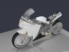 酷炫摩托车3D模型