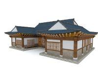 韩国古典房子obj模型