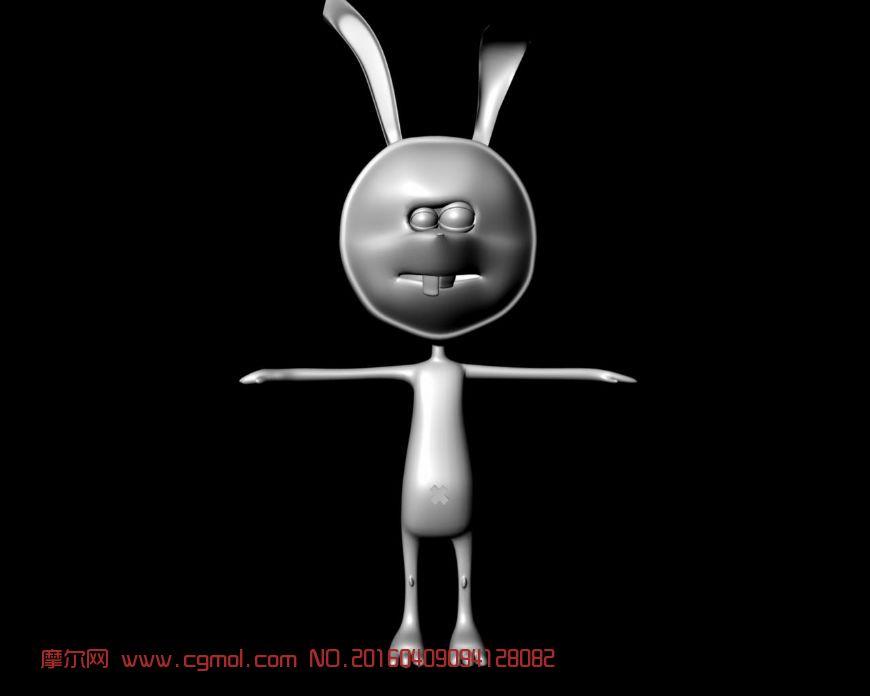 卡通龅牙兔maya模型