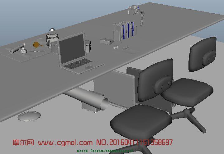 maya办公室制作场景