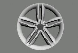 奥迪车轮毂切面3D模型