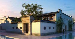 中式古镇民居别墅3D模型