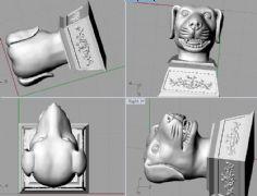 狗头,狗首,圆明园十二兽首3D打印文件