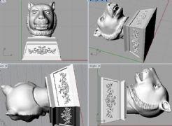 虎头,虎首,圆明园十二兽首3D打印模型