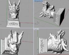 龙头,龙首,圆明园十二兽首3D打印文件