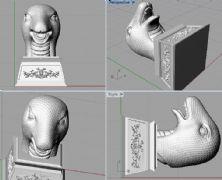 蛇头,蛇首,圆明园十二兽首3D打印文件