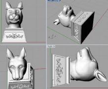 兔头,兔首,圆明园十二兽首3D打印文件