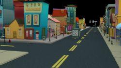 现代卡通小镇街道