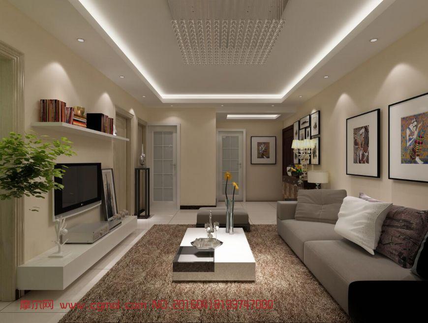 现代简约家装客厅