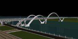 牡丹江步行桥广场3D模型