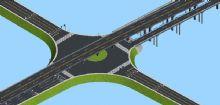 高架,十字形大桥3D模型