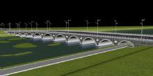高速路+拱桥3D模型