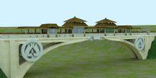 风雨桥,景观桥3D模型