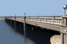 景观桥,大理石桥3D模型