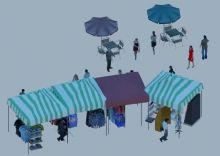 集市小卖部场景3D模型