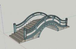 拱桥,石桥su模型