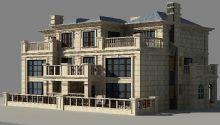 二层别墅max模型
