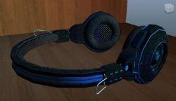 头戴式耳机,游戏耳机maya模型