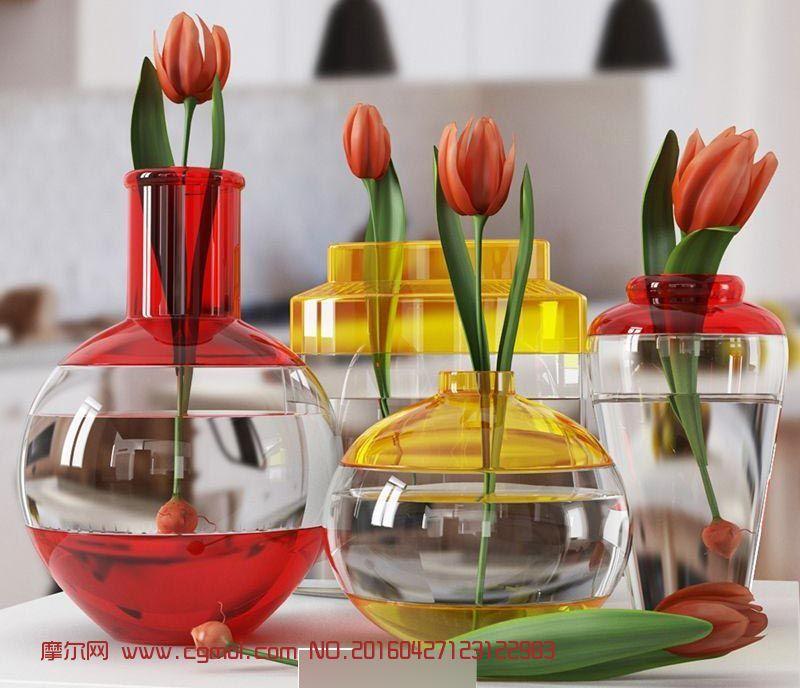 花草植物盆栽模型