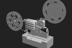 电影放映机3D模型