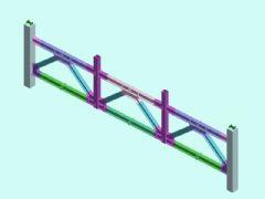 钢桁架3D模型