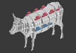 牛形状货架