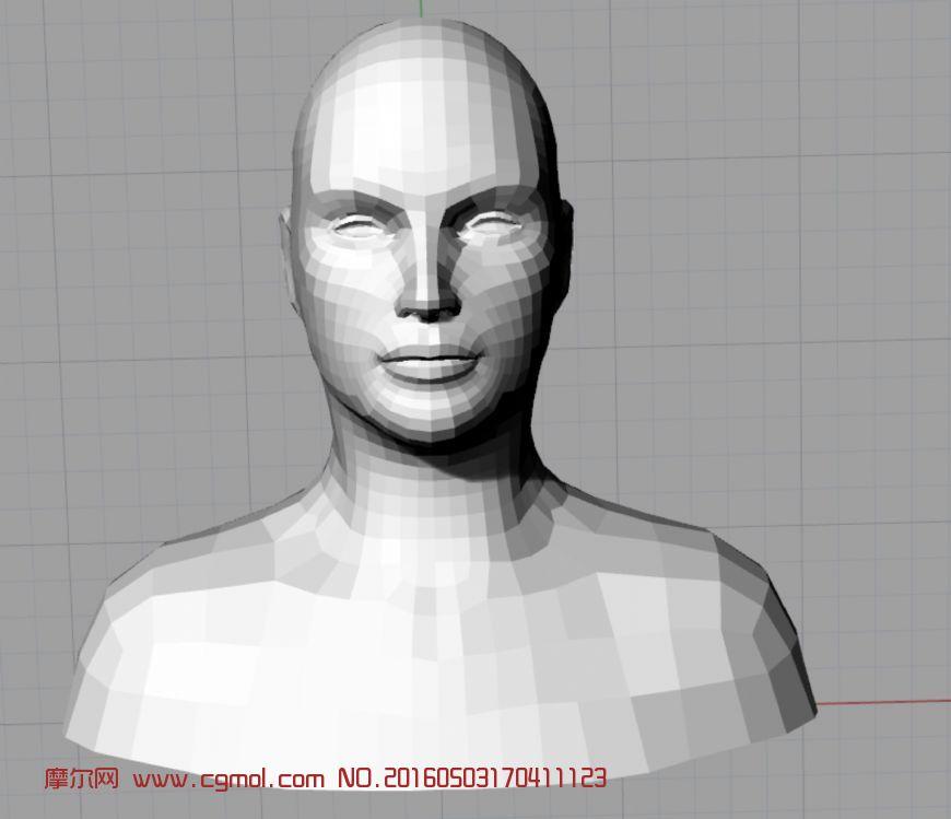 标准人物头像3d文档