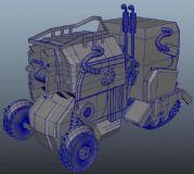 maya设计的概念拖拉机