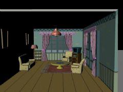 室内卡通客厅maya模型,带贴图