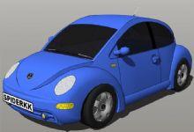 甲壳虫汽车su模型